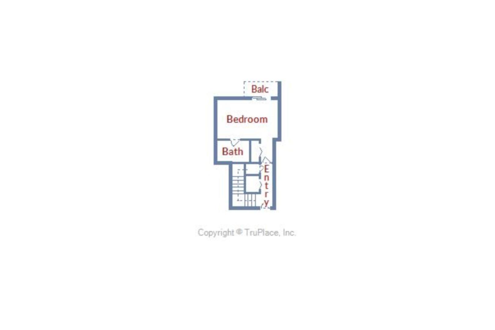 Century I 1401 - Upper Level Floor Plan