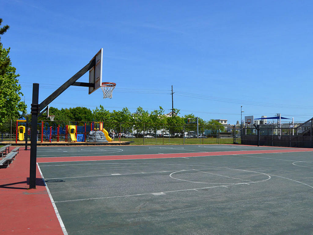 Nearby Park with Basketball Court