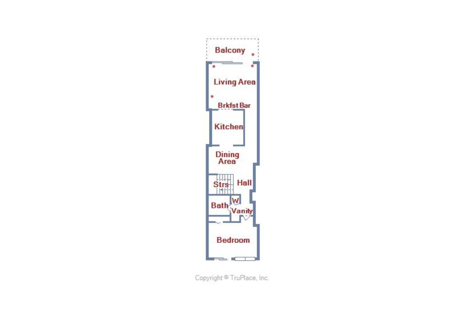 Century I 719 - Upper Level Floor Plan