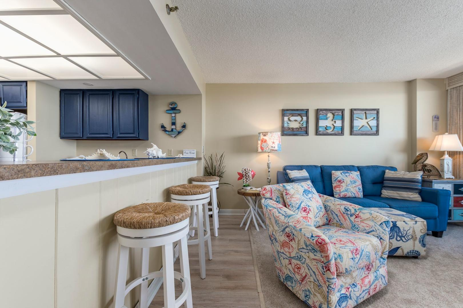 Century I 2203 - Living Room and Breakfast Bar