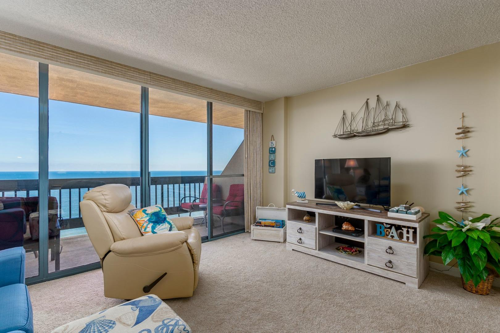 Century I 2203 - Living Room with Ocean Views