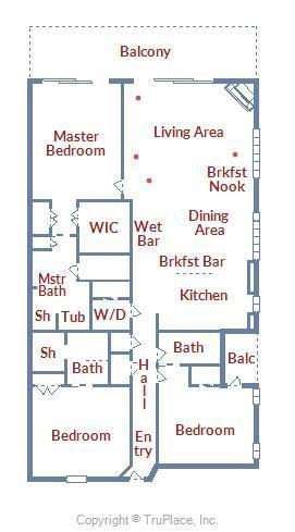 South Beach 304 - Floor Plan Layout
