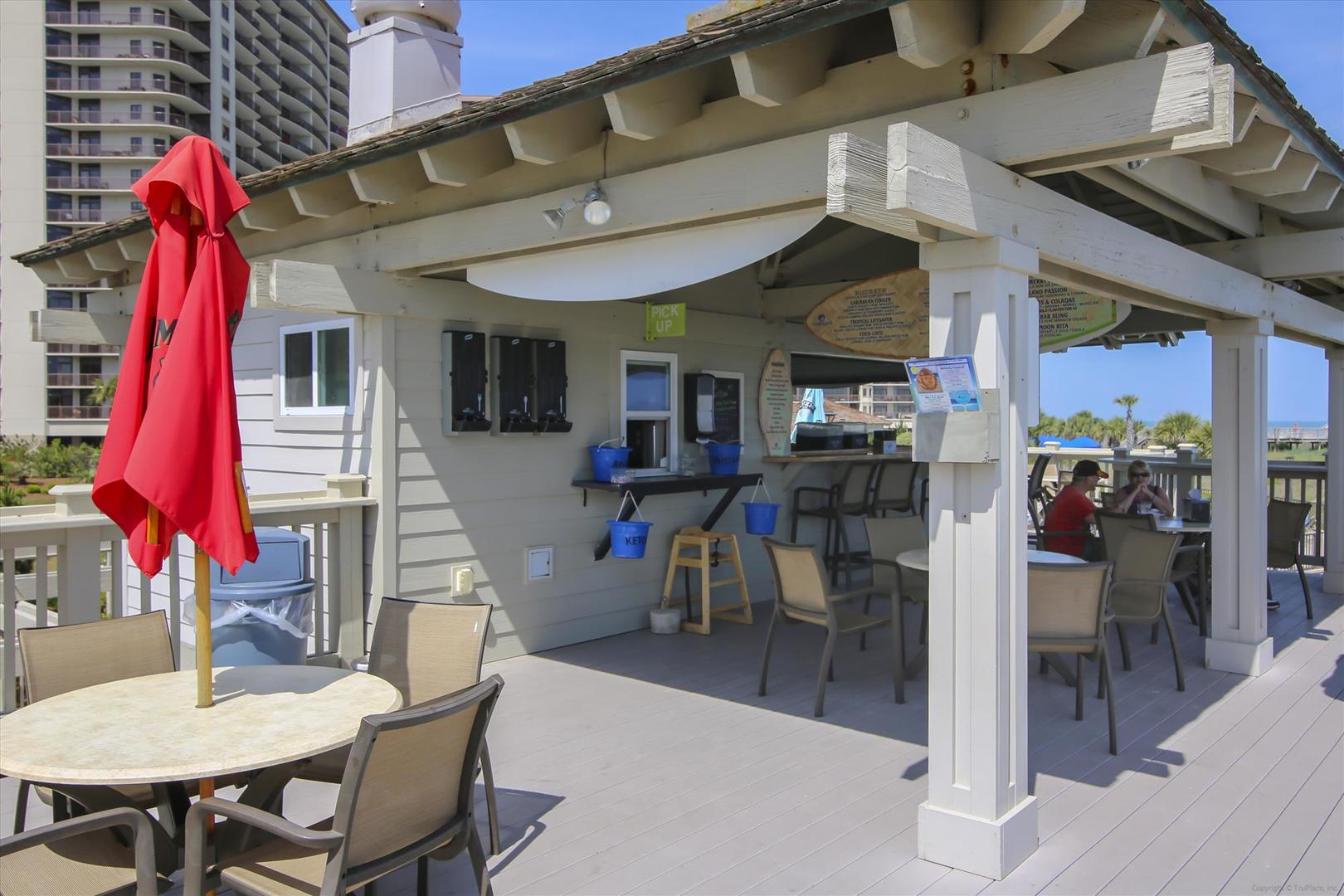 Bar and Grill Next to Beach Pool