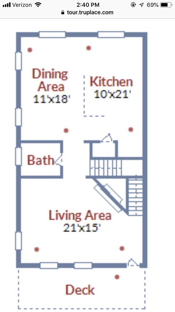Floor Plan of Second Level