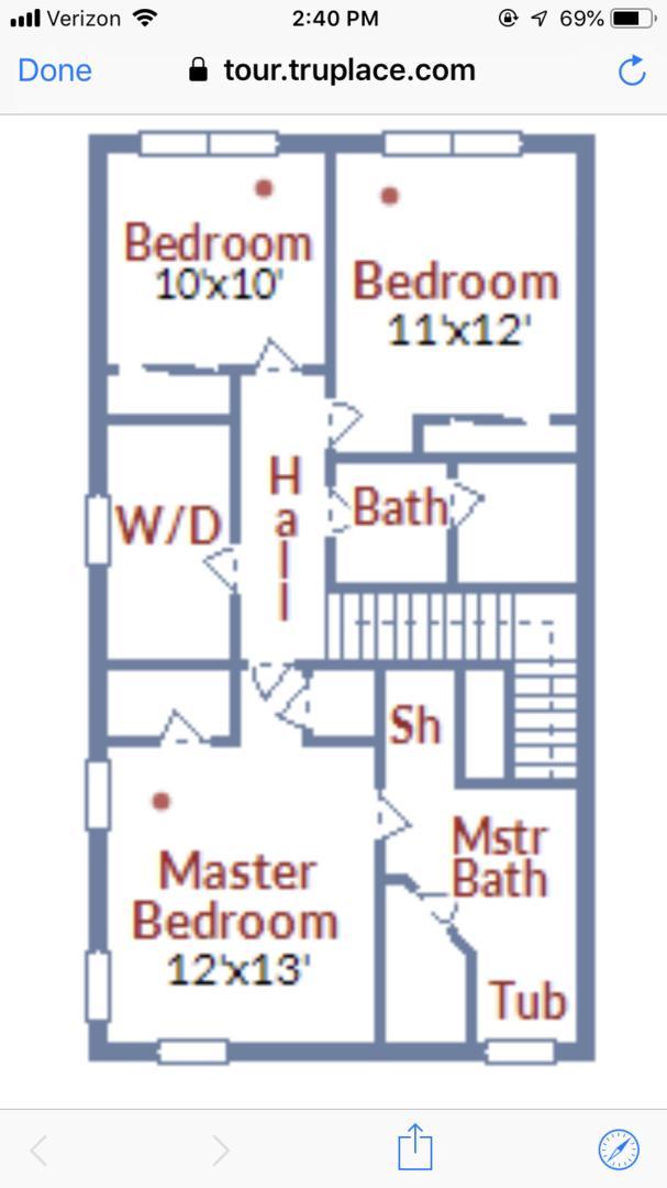 Floor Plan of Third Level