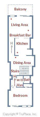 Century I 1909 - Upper Level Floor Plan