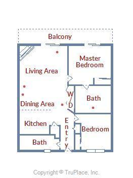 Sunset Bay II 518 - Floor Plan Layout
