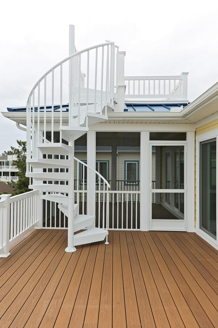 Stairs to Upper Deck - 1611 King and Coastal