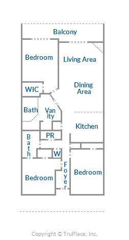 Floor Plan Layout - Sunset Beach 207