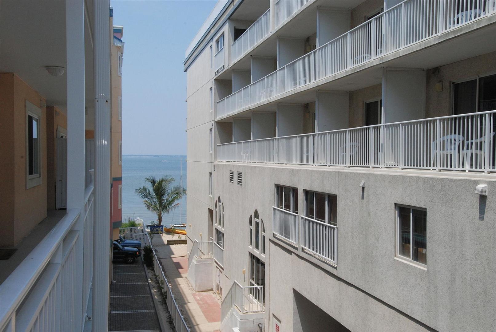 Partial Bay View (outside of unit entry way) - Sunset Beach 207