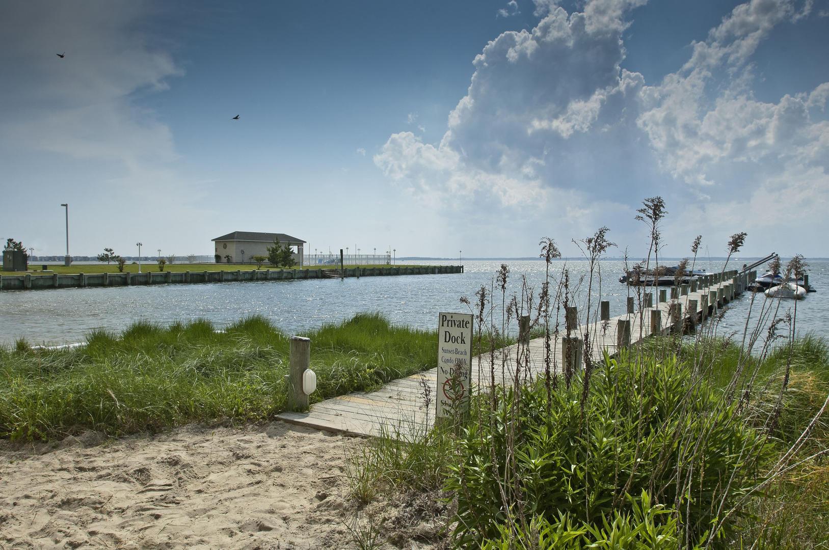 Sunset Beach Bayfront Dock
