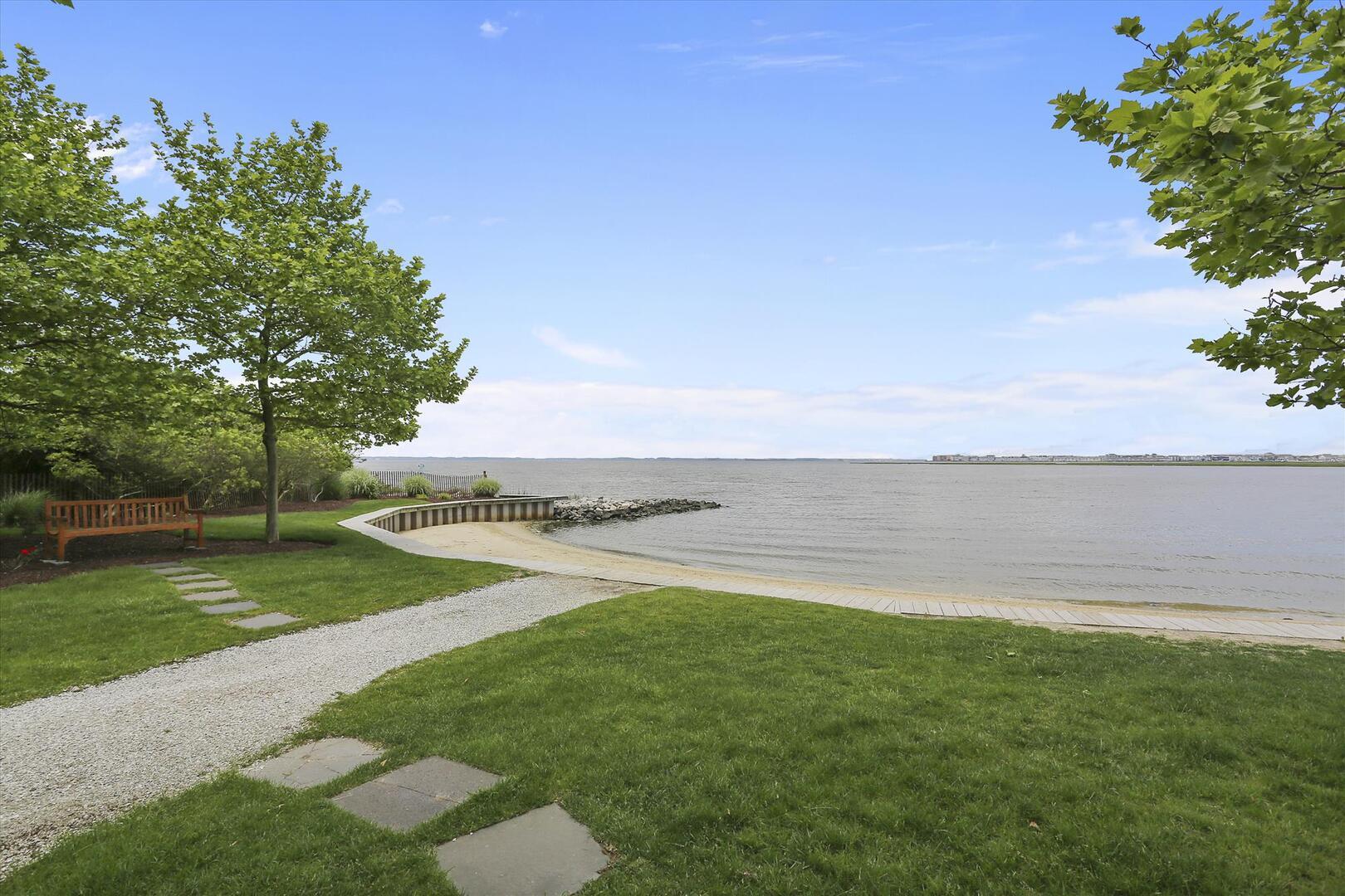 Private Bayfront Beach