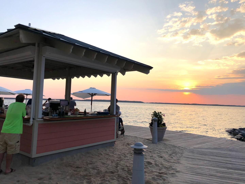 Outdoor Bar (open seasonally) - Sunset Island 55 Island Edge Dr.