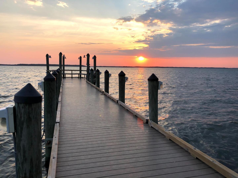 Fishing and Crabbing Pier at Sunset