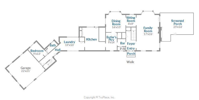 Main House 1st Floor Floor Plan