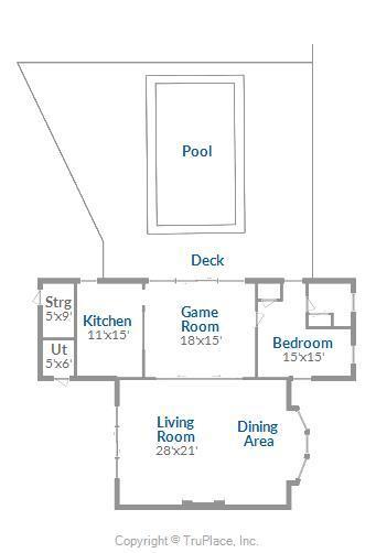 Pool House and Pool Floor Plan