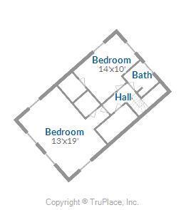 Main House Upper Level Over Garage Floor Plan