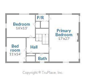 Main House Upper Level Floor Plan