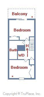 Cinnamon Teal 9 - Layout of Second Floor