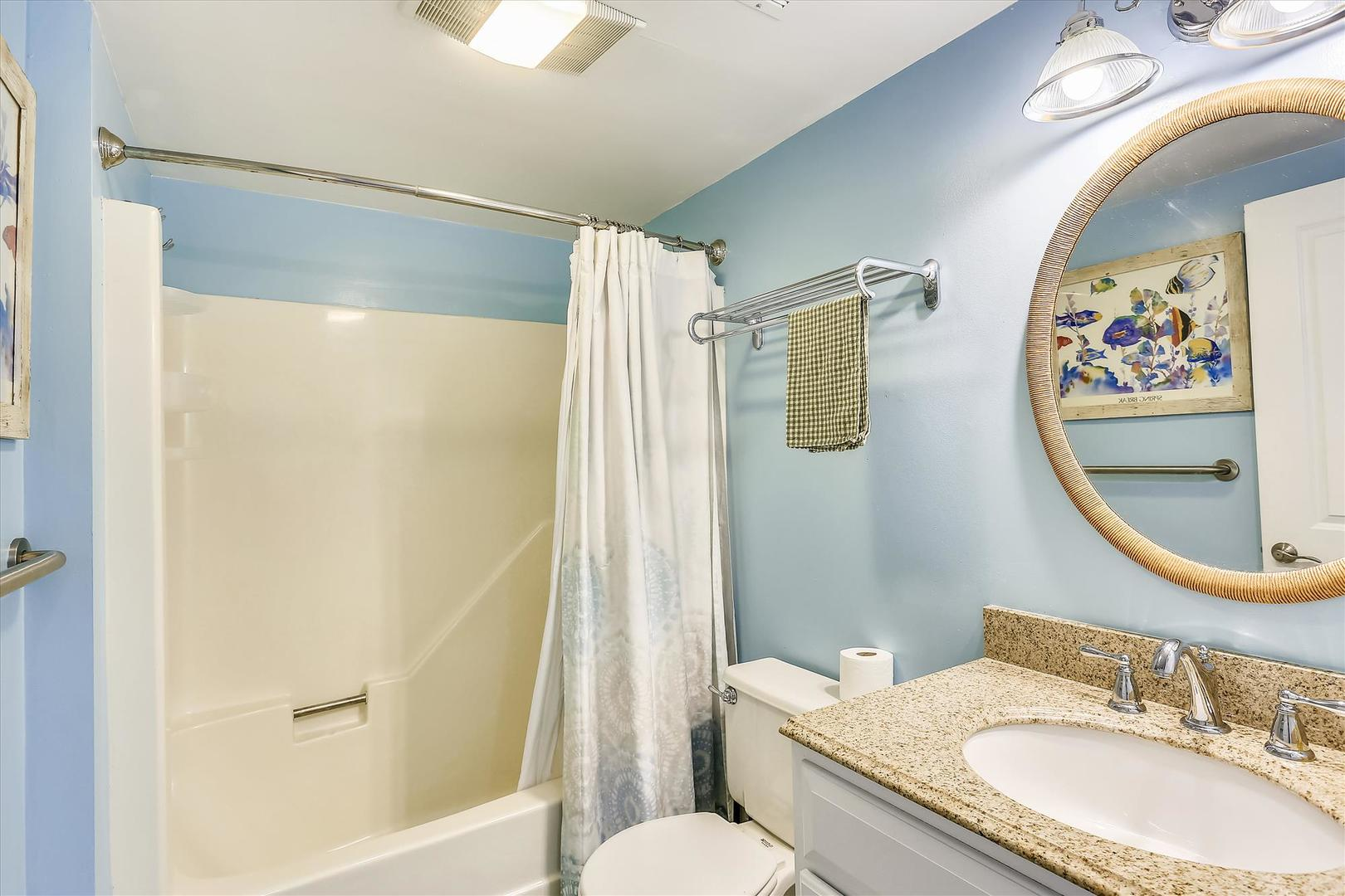 Cinnamon Teal 9 - Full Bathroom on First Floor