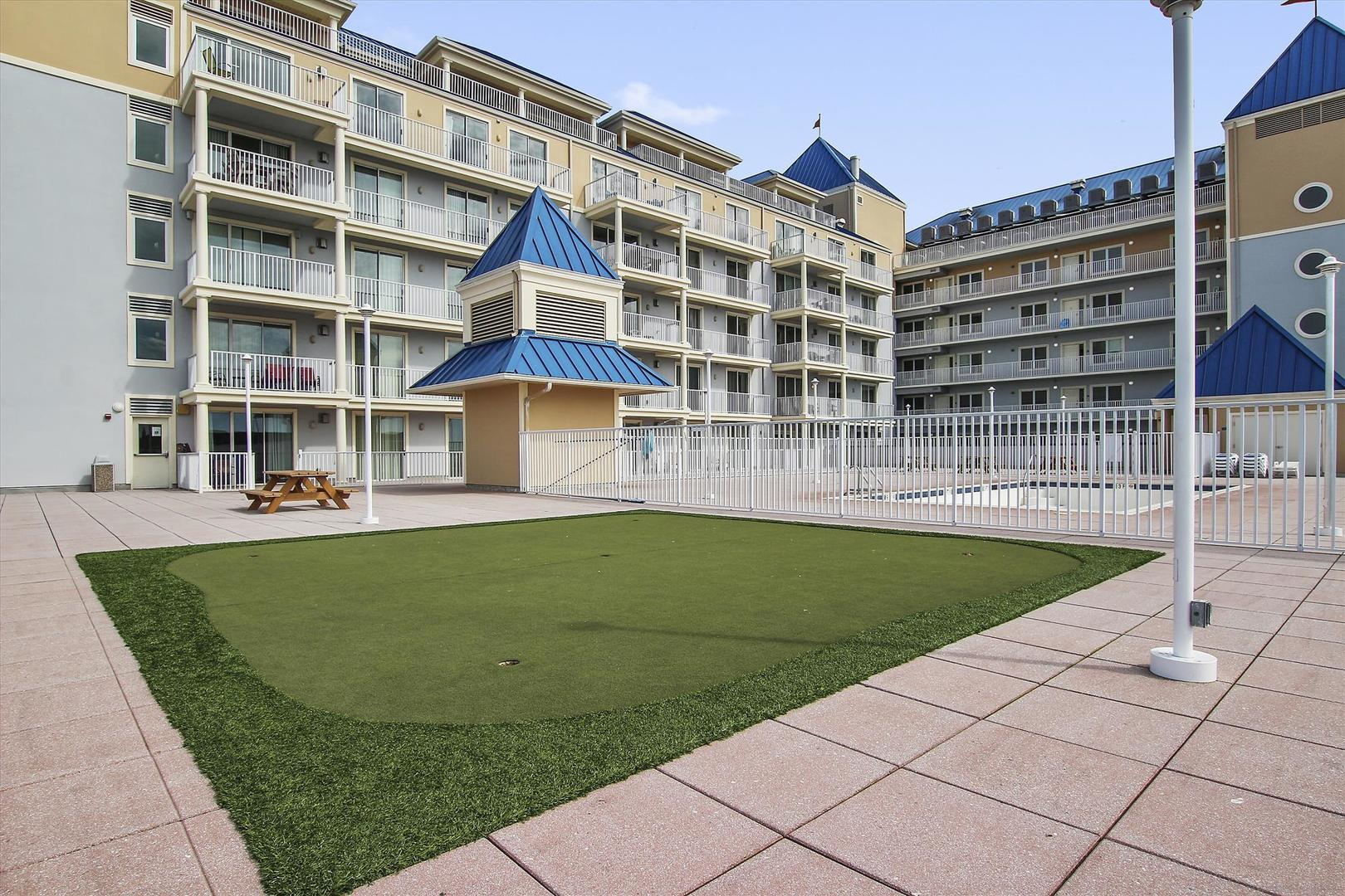 Belmont Towers Rooftop Putting Green