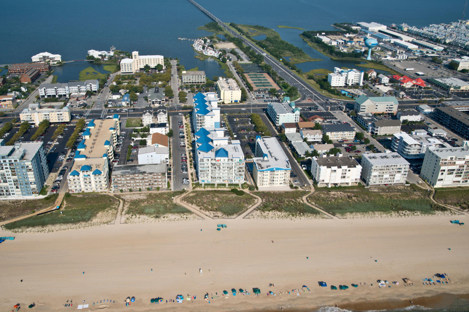 Aerial View of Meridian in Mid-Town Ocean City