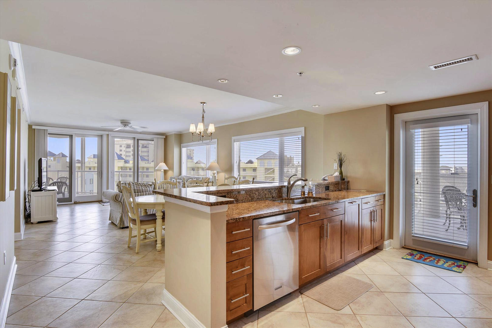 Meridian 504W - Kitchen with Adjoining Balcony