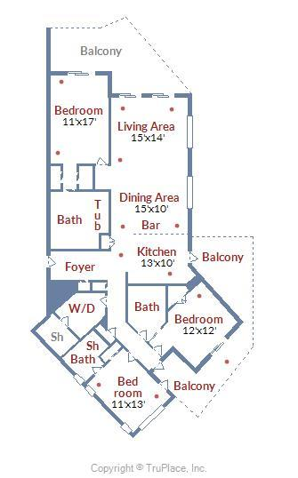 Floor Plan of Meridian 504W