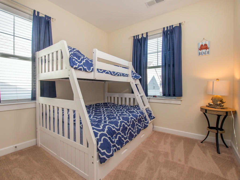 Broad Marsh, 114E - Third Bedroom (Pyramid Bunk Bed w/ Trundle)