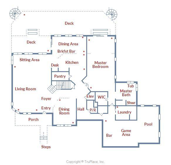 12938 Sunset Ave. - Second Level Floor Plan