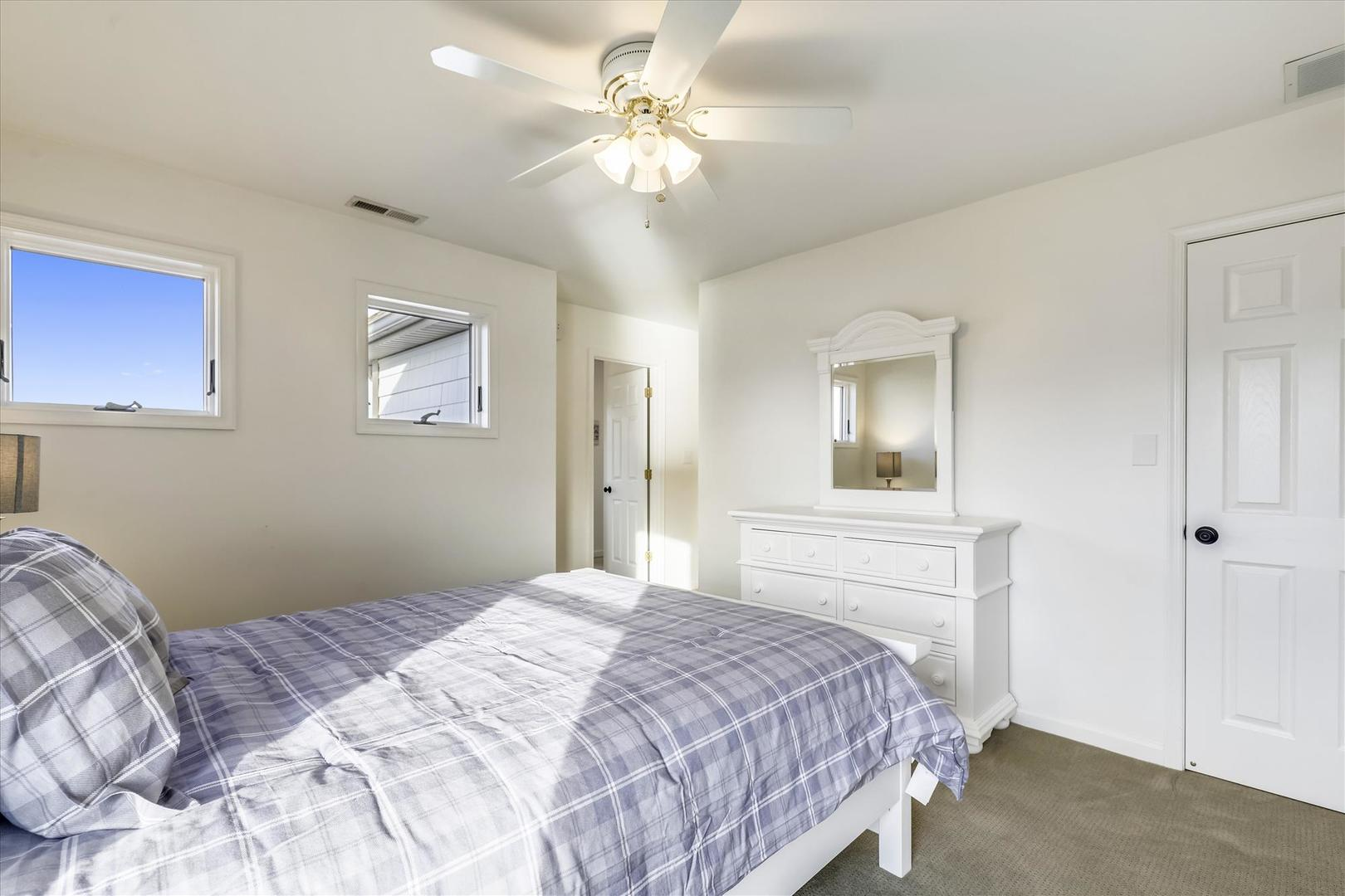 12938 Sunset Ave. - Upper Level Bedroom with Queen