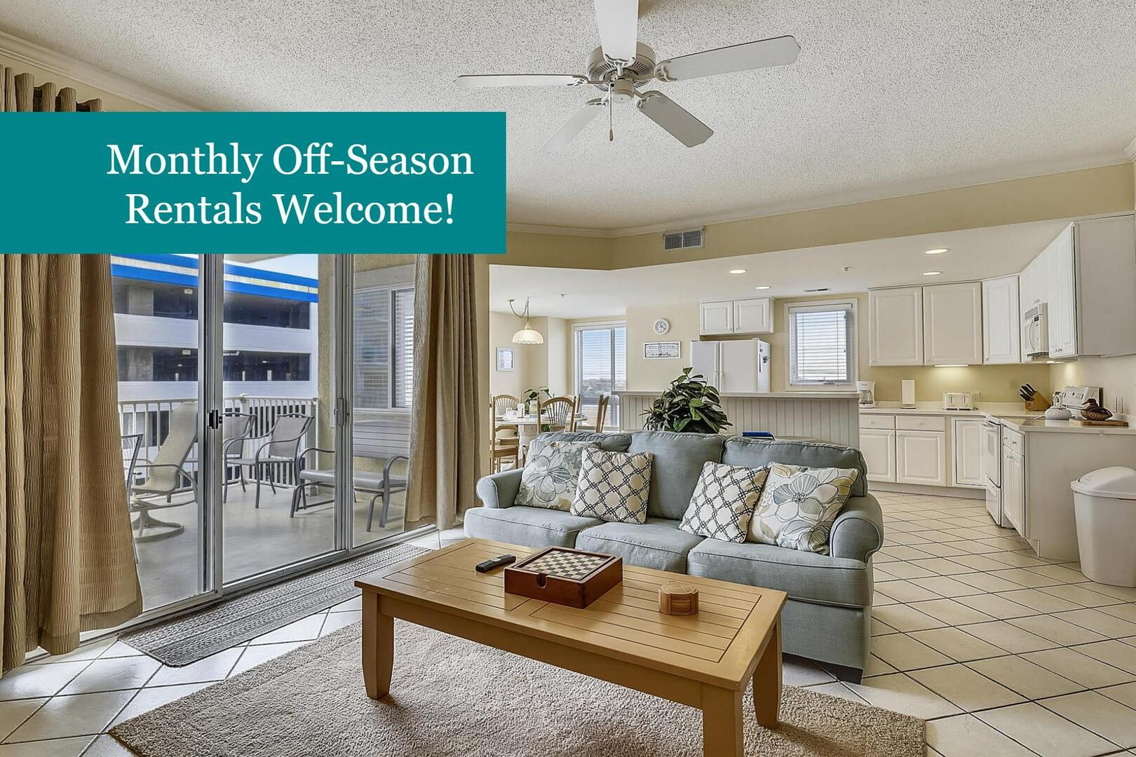 Monthly Off-Season Stays Available