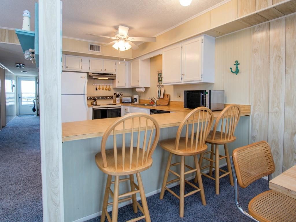 Bradley on the Bay, 209B - Kitchen Area