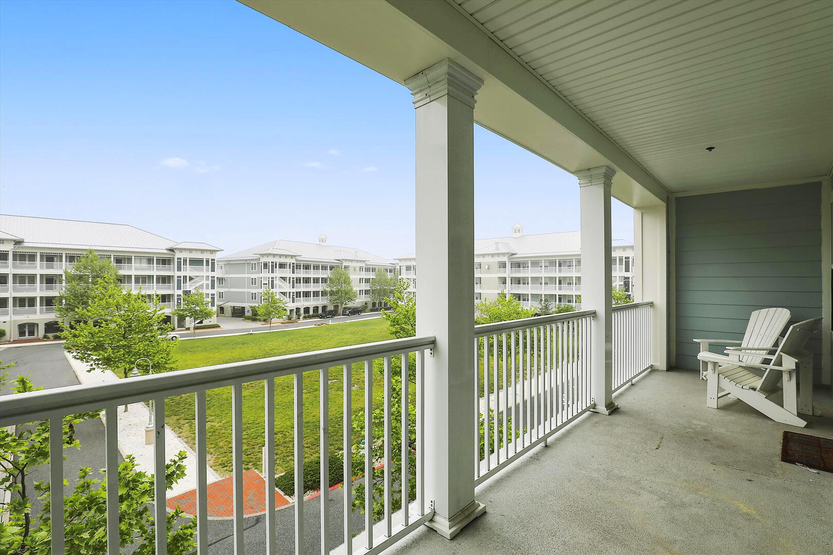 Balcony of 37 Fountain Dr. W 3C in Sunset Island