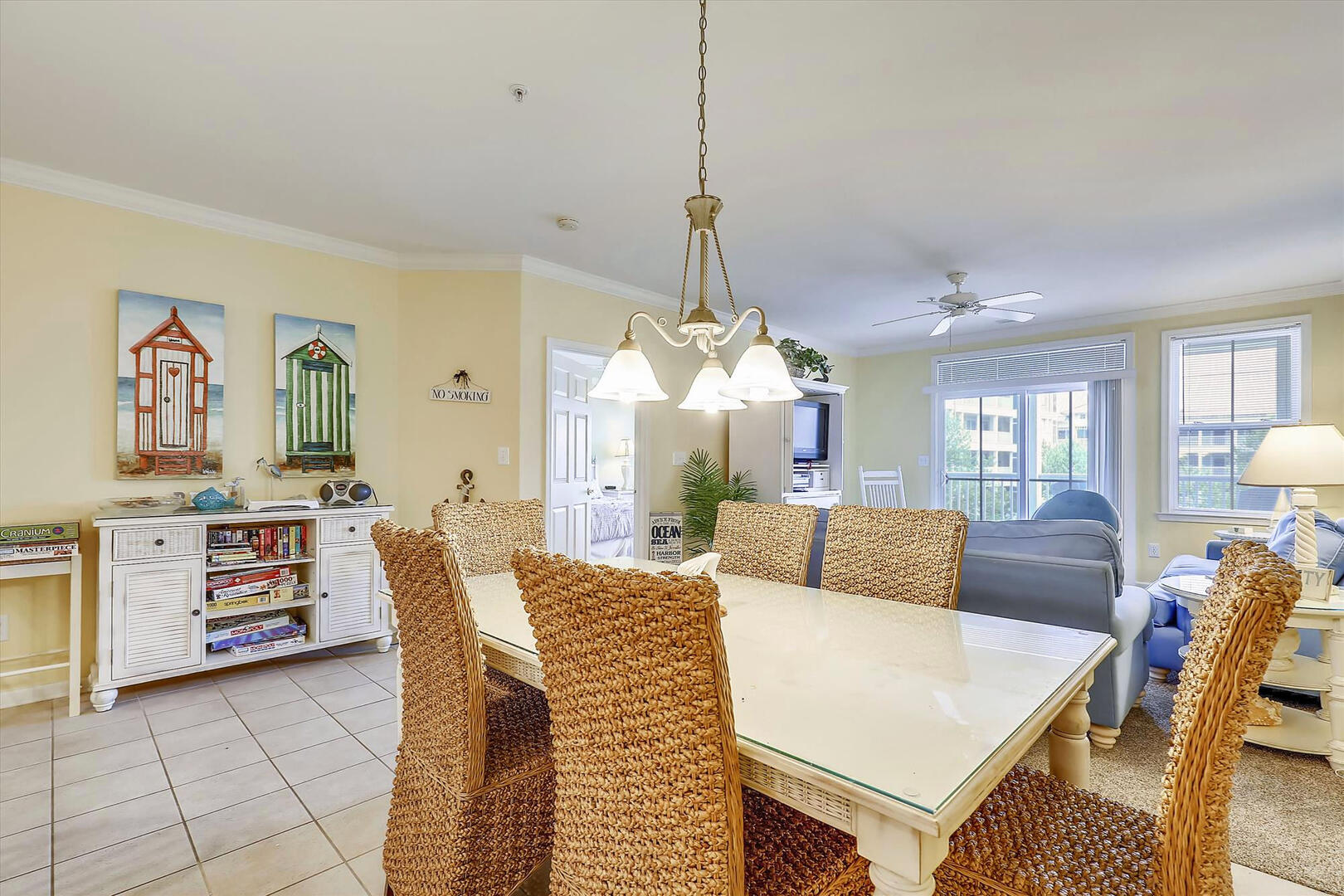 Dining Area of 37 Fountain Dr. W 3C in Sunset Island