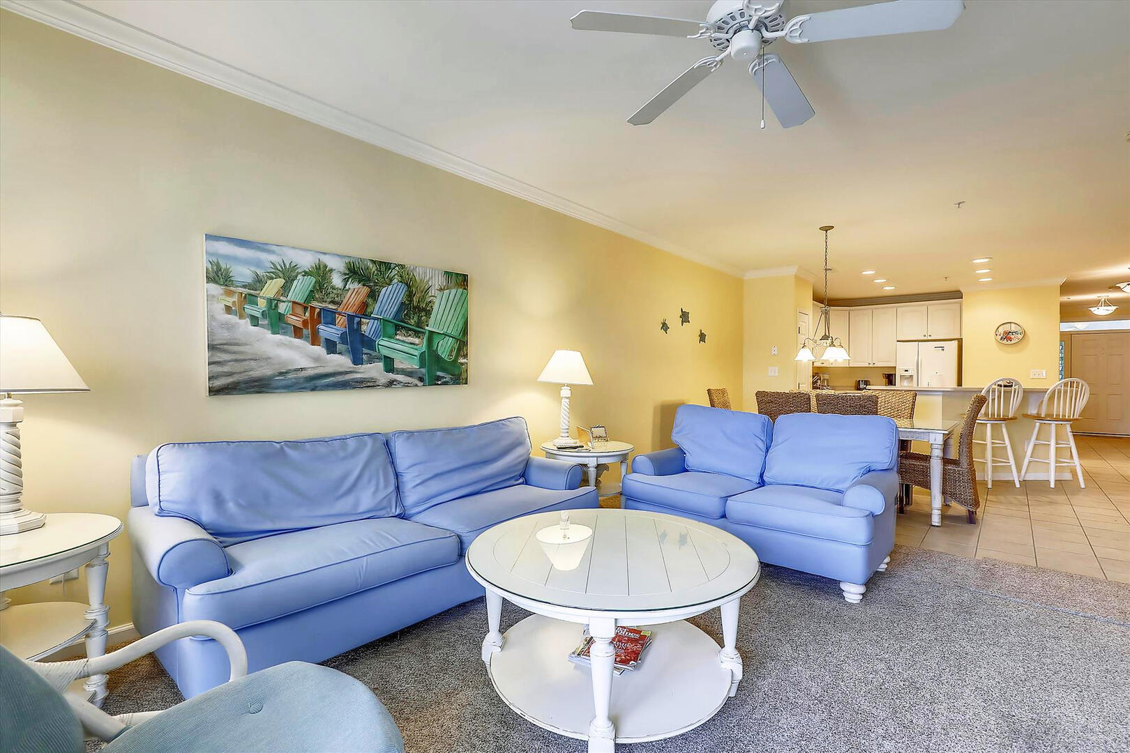 Living Room of 37 Fountain Dr. W 3C in Sunset Island