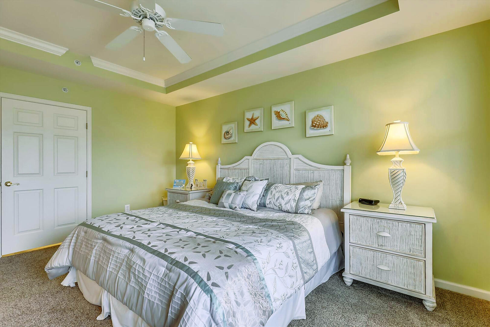 Master Bedroom of 37 Fountain Dr. W 3C in Sunset Island