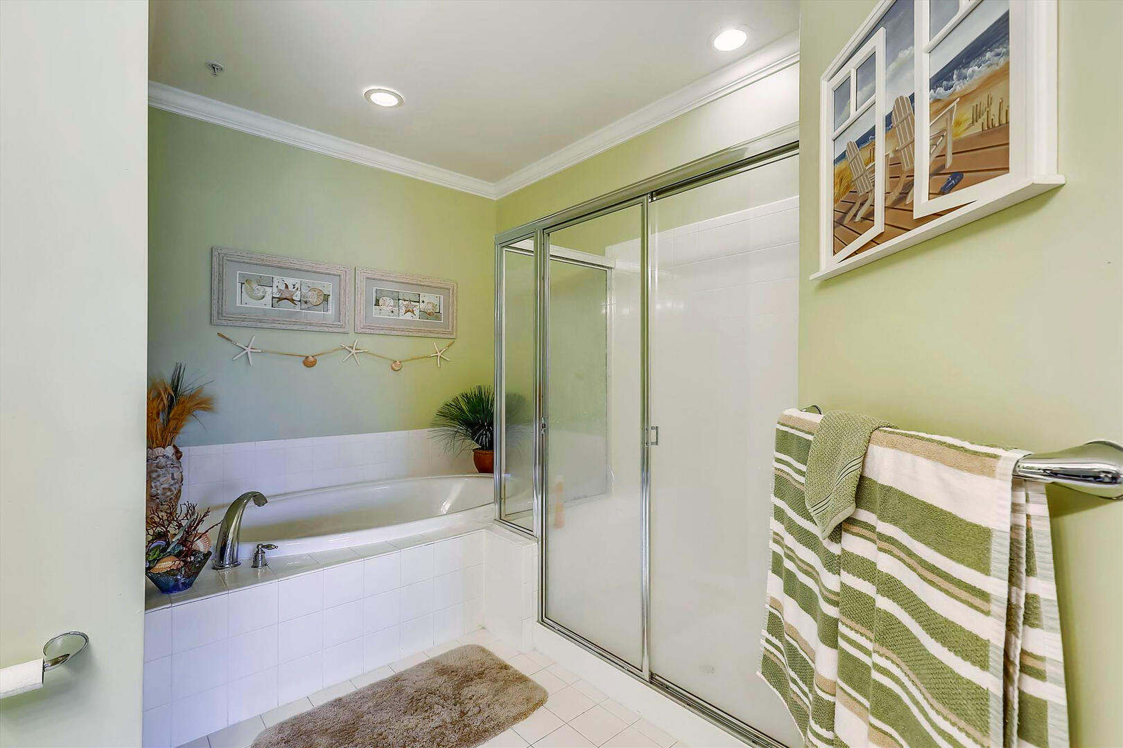 Master Bathroom of 37 Fountain Dr. W 3C in Sunset Island