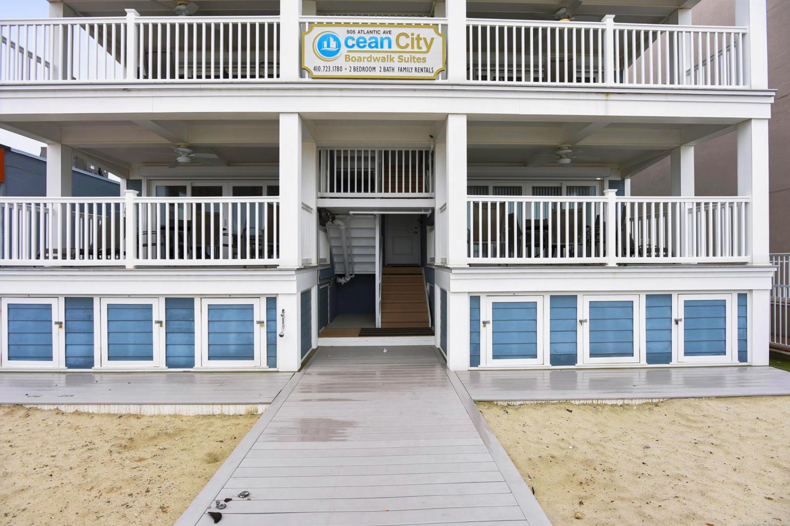 Ocean City Boardwalk Suites N2 - Enclosed Yard with Storage