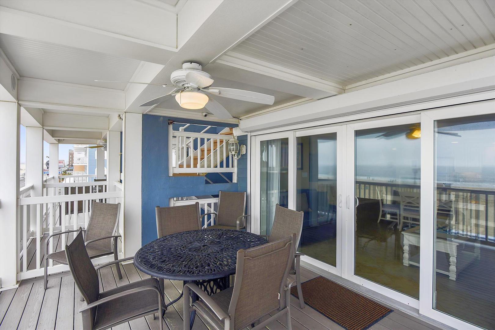 Ocean City Boardwalk Suites N2 - Furnished Balcony