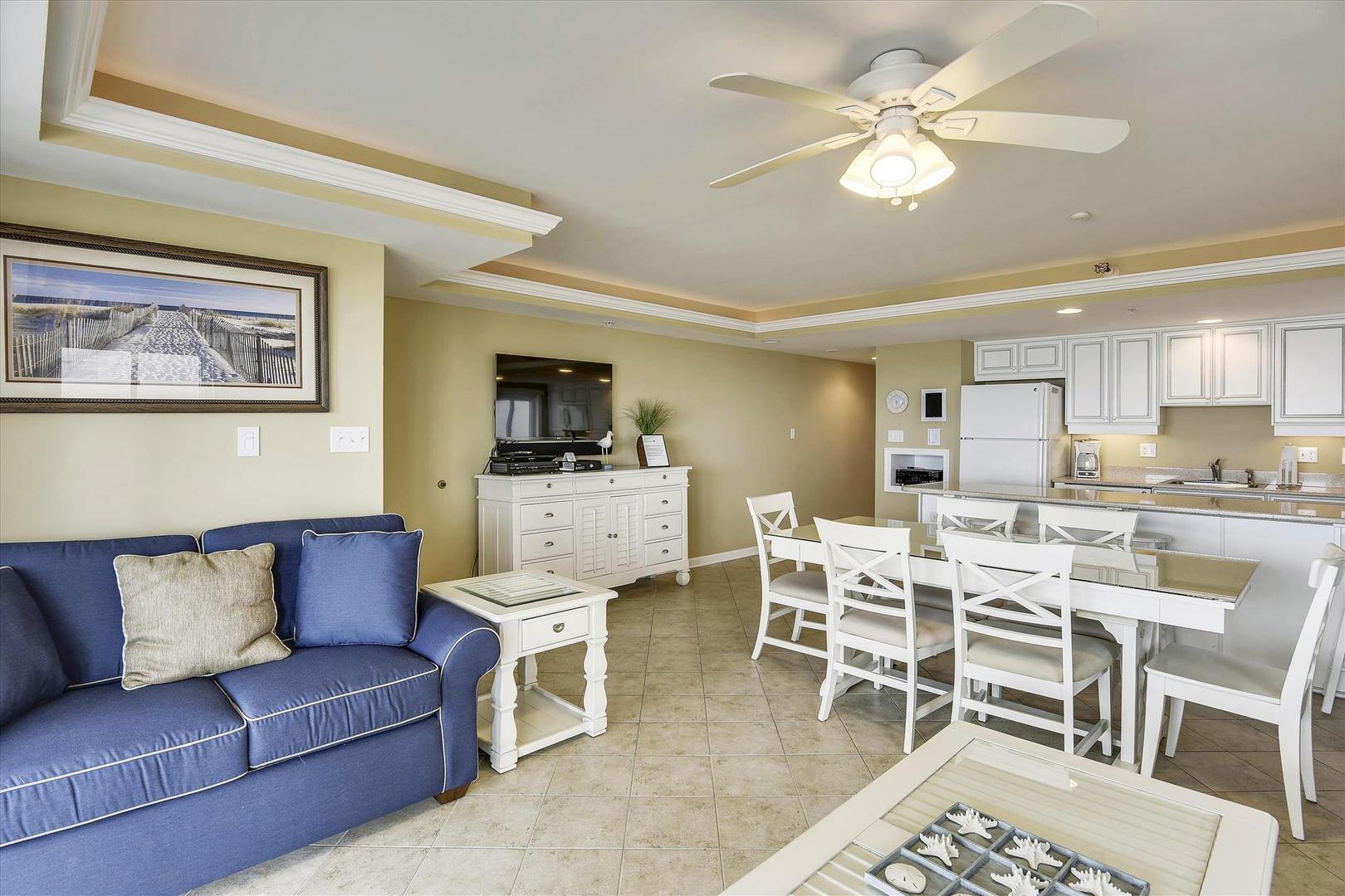 Ocean City Boardwalk Suites N2 - Living Room