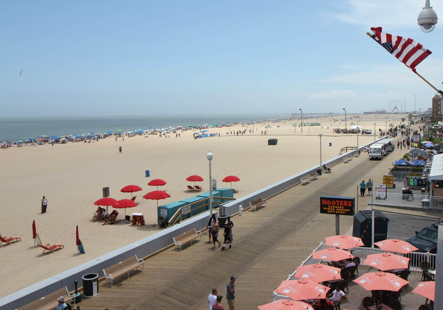 OC Boardwalk Suites - View of Beach and Boardwalk