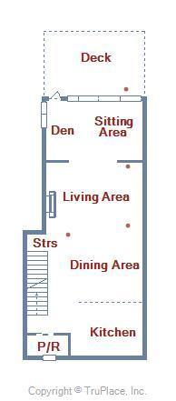Bayville Shores 1169 - Main Level Floor Plan