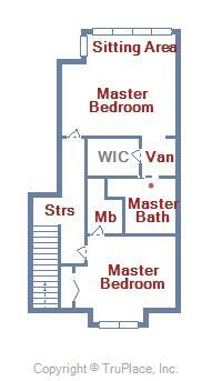 Bayville Shores 1169 - Upper Level Floor Plan