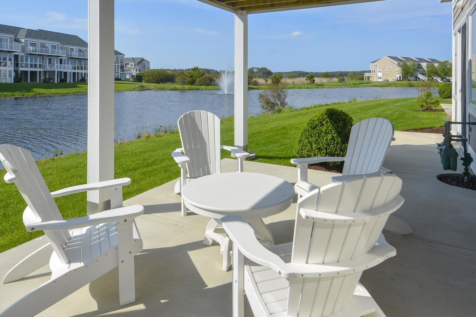 Bayville Shores 1169 - Lower Level Patio with Water Views
