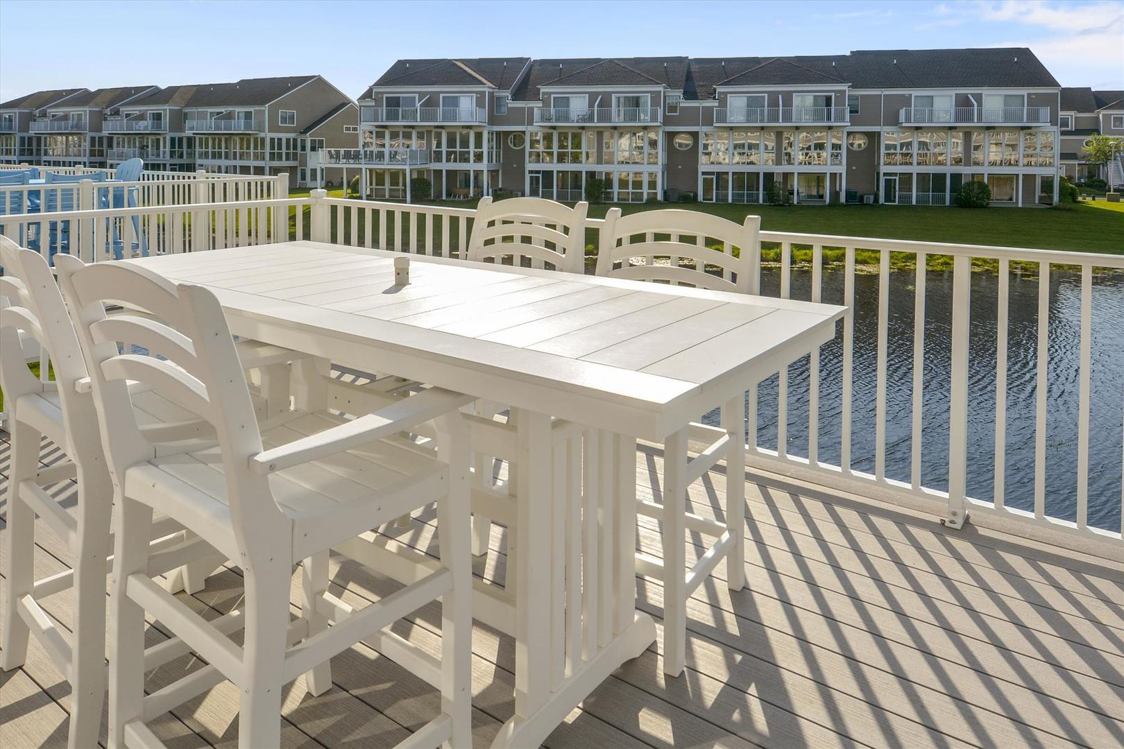 Bayville Shores 1169 - Main Level Deck with Water Views