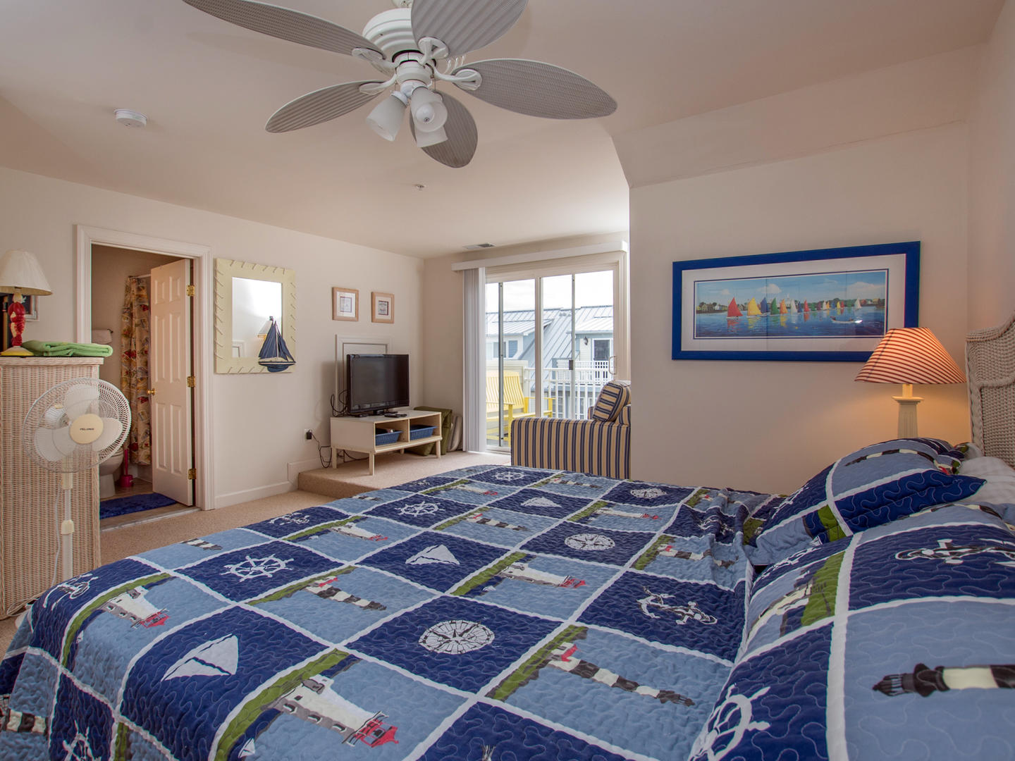 Sunset Island, 21 Beach Walk Lane - Top Floor Bedroom