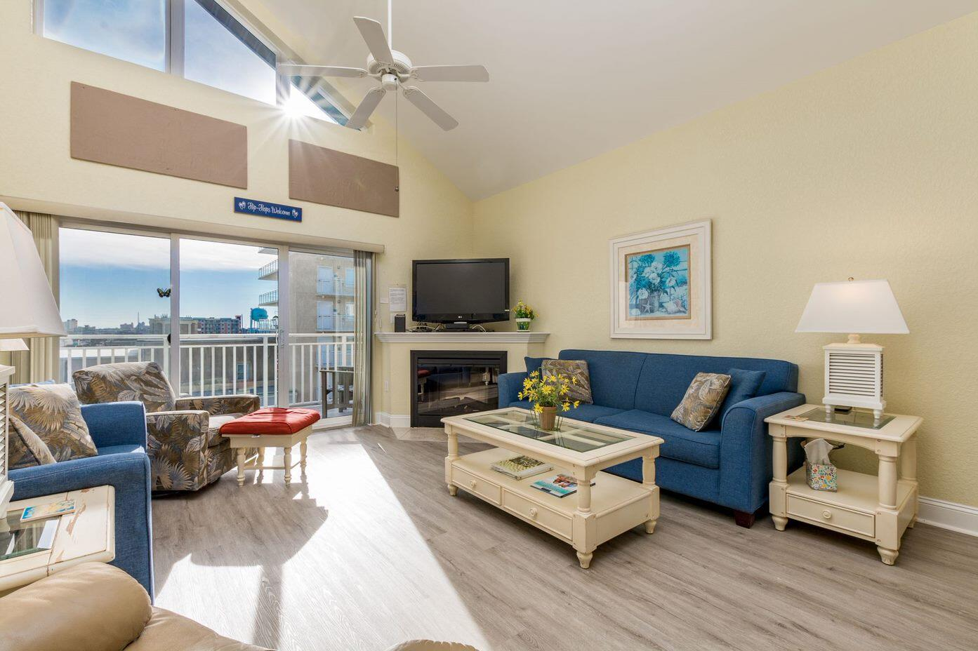 Living Room of Sunset Beach 409