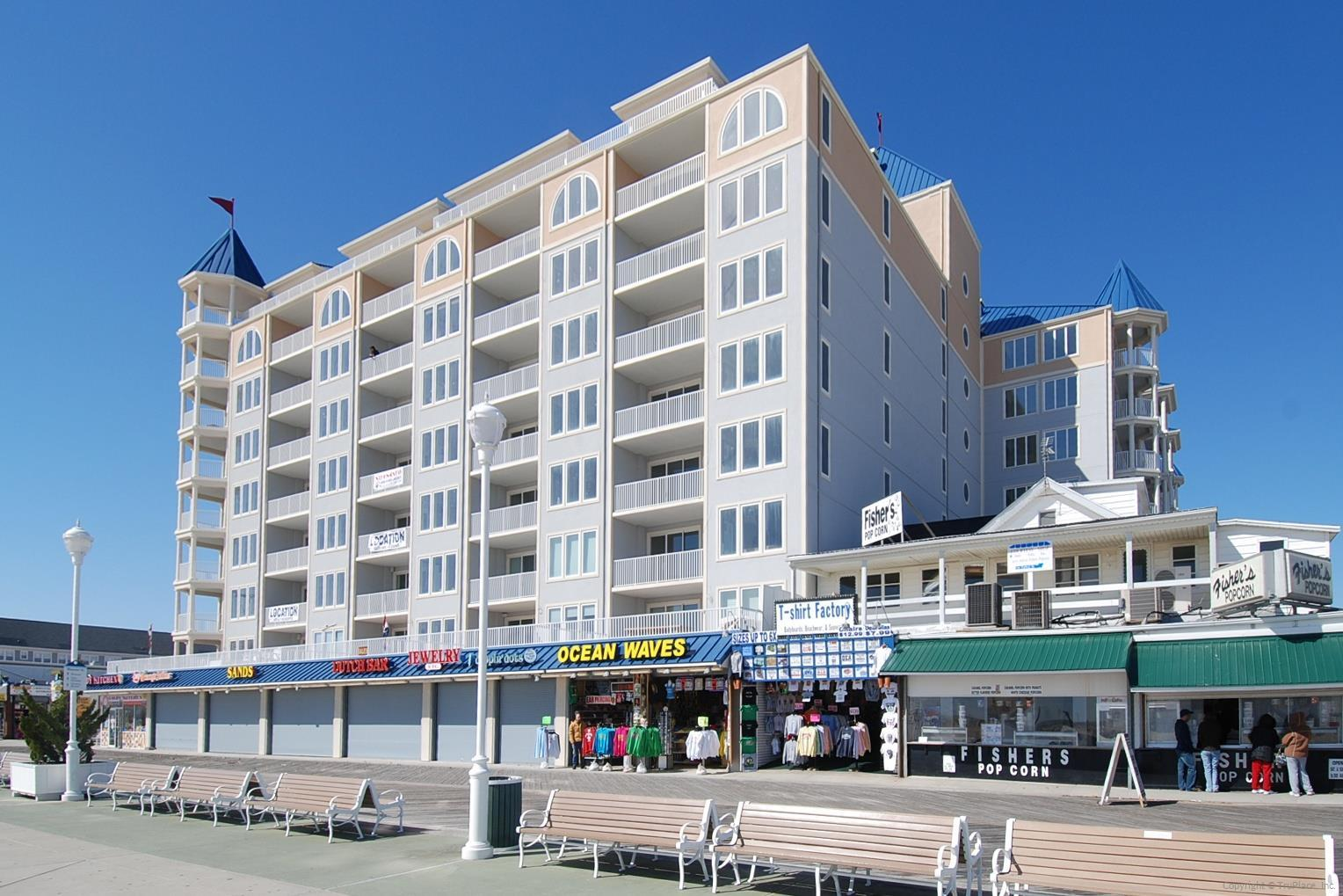 Belmont Towers Exterior on OC Boardwalk