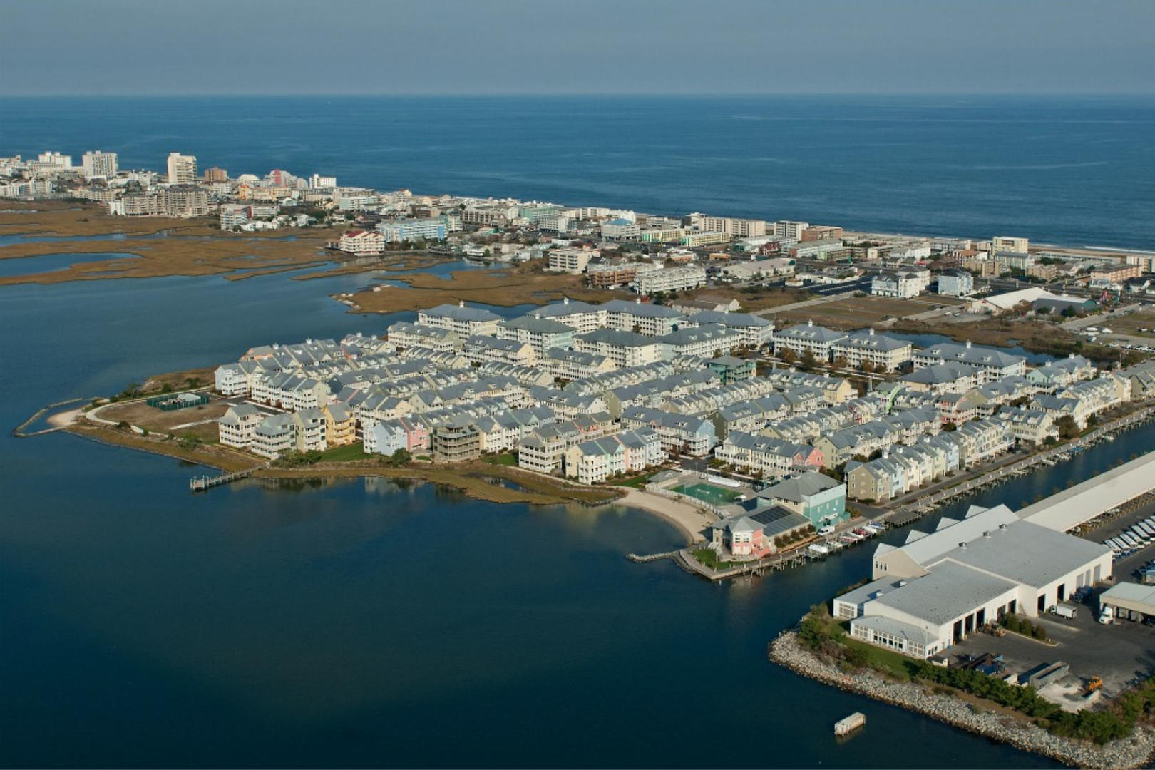 Aerial View of Sunset Island on 67th St. in Ocean City